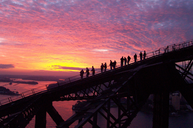 Twilight Bridge Climb image courtesy of Sydney BridgeClimb