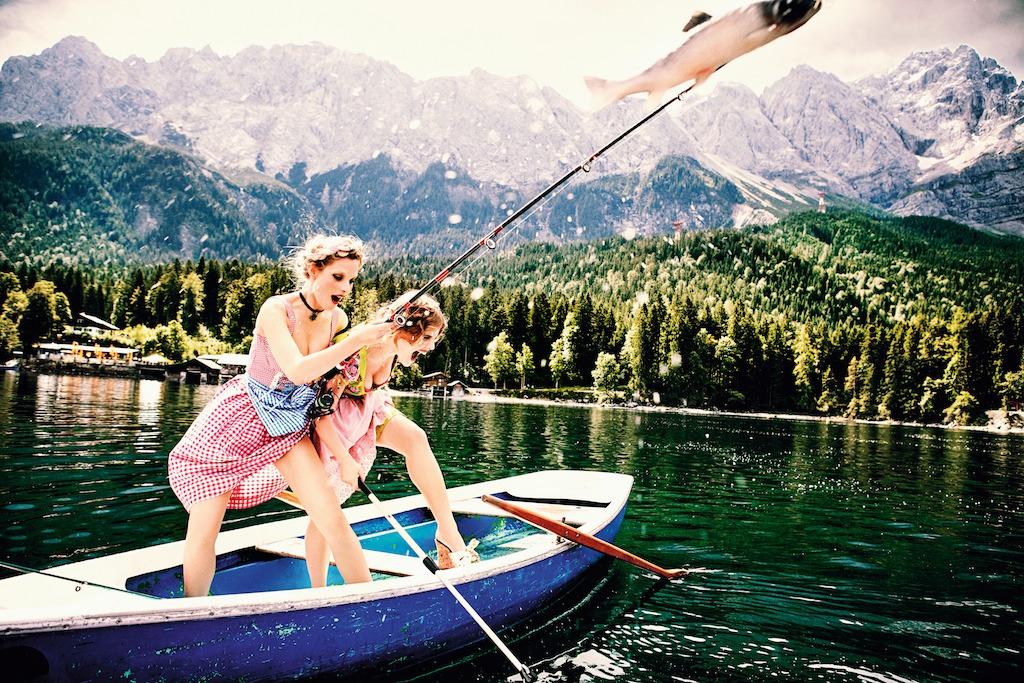 'The Big Catch'   Courtesy of Ellen von Unwerth