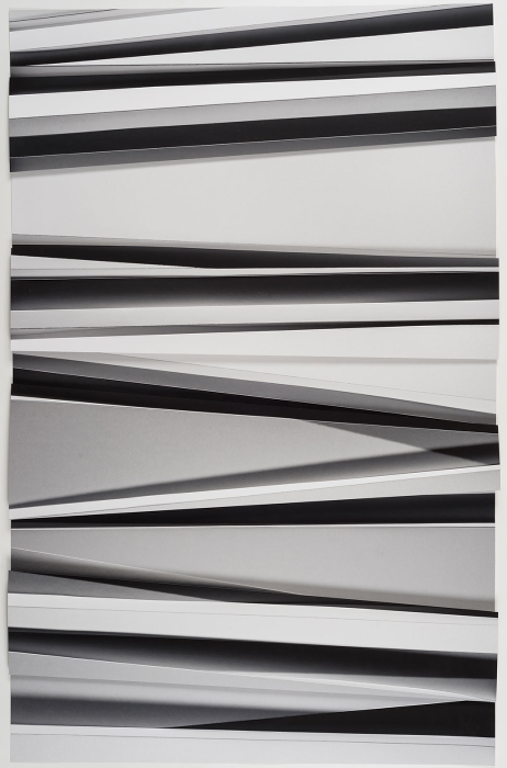 Christiane Feser, Lamellen 14, 2016. Photo Object with Archival Pigment Print. 46.5 x 29.5 x 1.4 inches (118 x 75 x 3.5 cm). Unique. Image courtesy of Von Lintel Gallery, Los Angeles