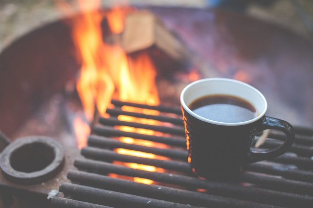 coffee on the braai