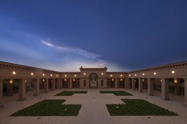 The courtyard in the middle of the labyrinth   © Mauro Davoli / Fondazione Franco Maria Ricci