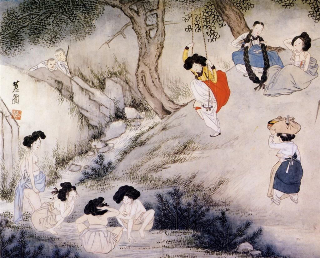 A geunetagi swinging competition on Dano | © Shin Yunbok