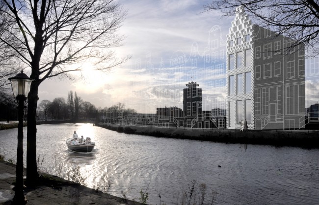 Artist's impression of the 3D Printed Canal House | © DUS Architects