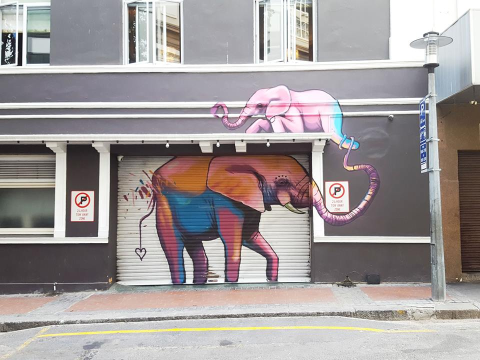 An artwork by Falko 1 © Courtesy of Cape Town Street Art