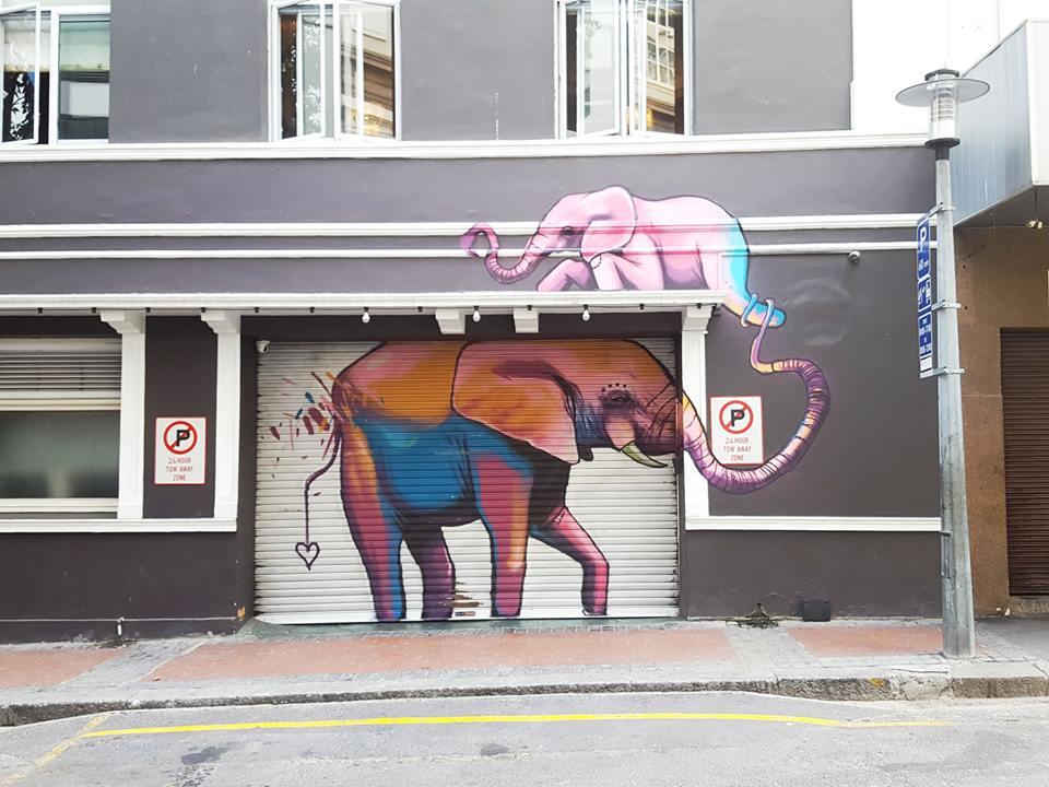 An artwork by Falko 1 © Courtesy of Cape Town Street Art