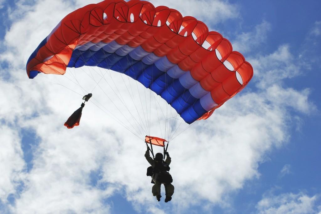 Parachuting   Photo courtesy of Pixabay