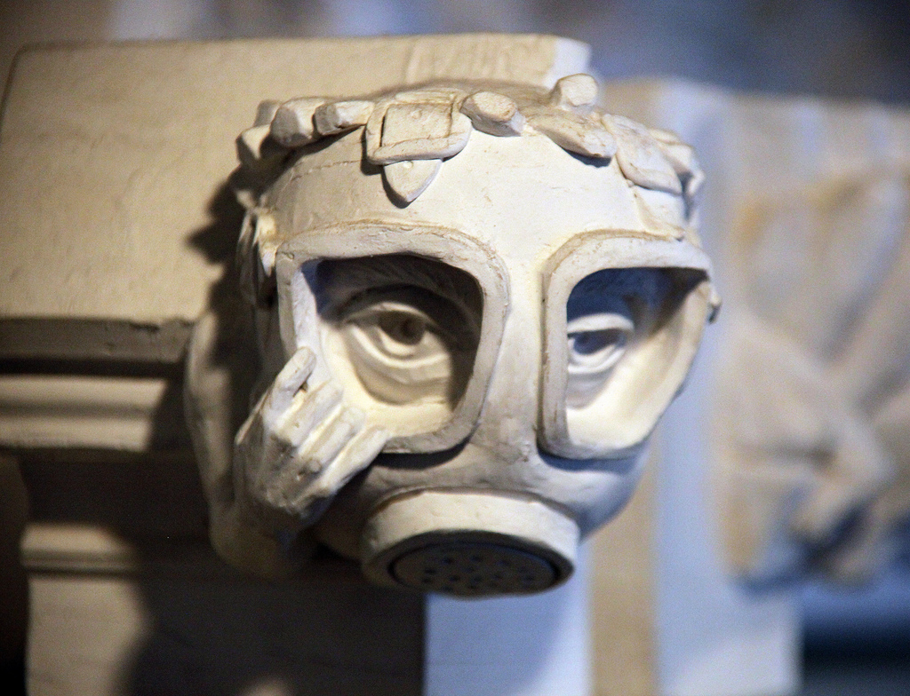 Gas Mask Gargoyle National Cathedral Tim Evanson Flickr