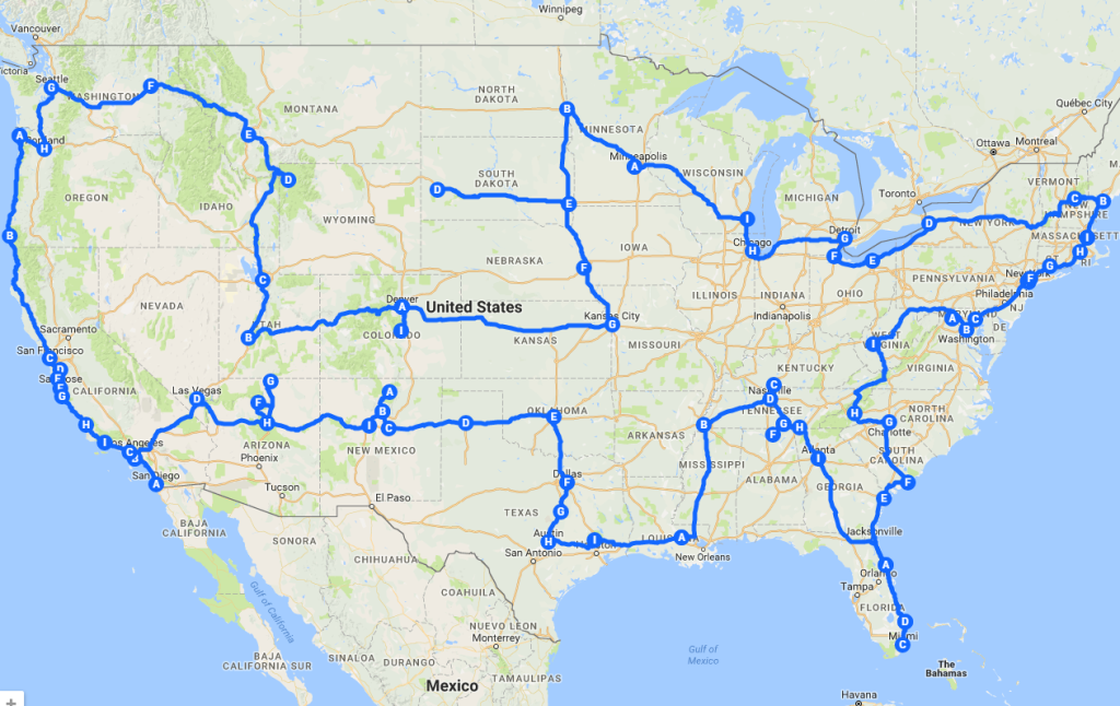 In 20 weeks the duo covered all 48 mainland states, 39 cities and drove well over 13,650 miles | © Pretenniless