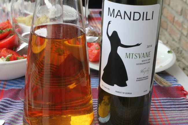 Amber hued Georgian wine from Mandili | © Sarah May Grunwald