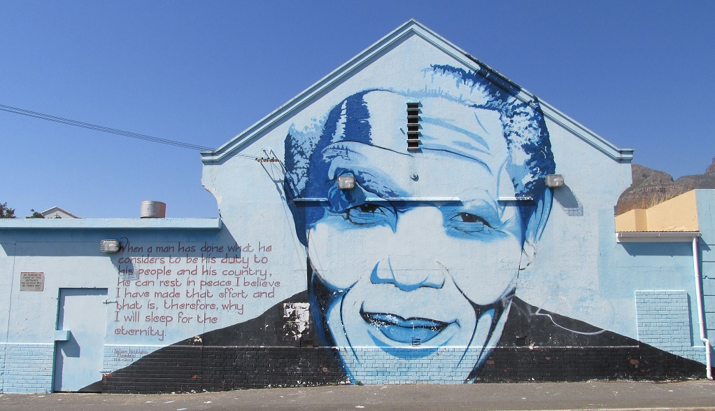 Nelson Mandela mural by Mak1one © Lee-Shay Collison