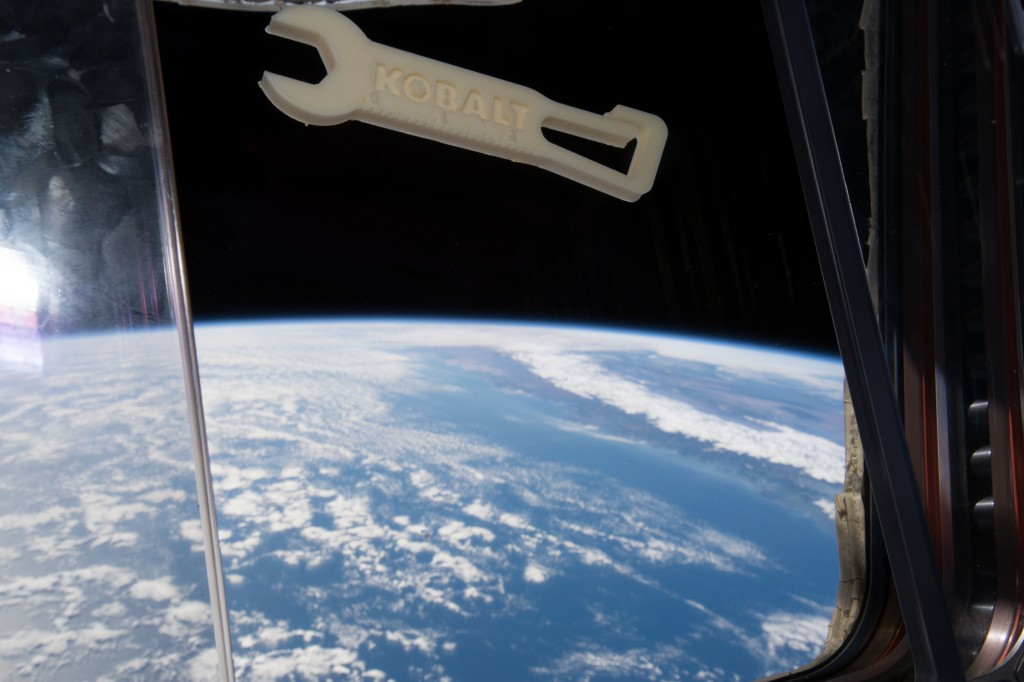 A 3D-printed wrench in the International Space Station | Courtesy of MadeinSpace