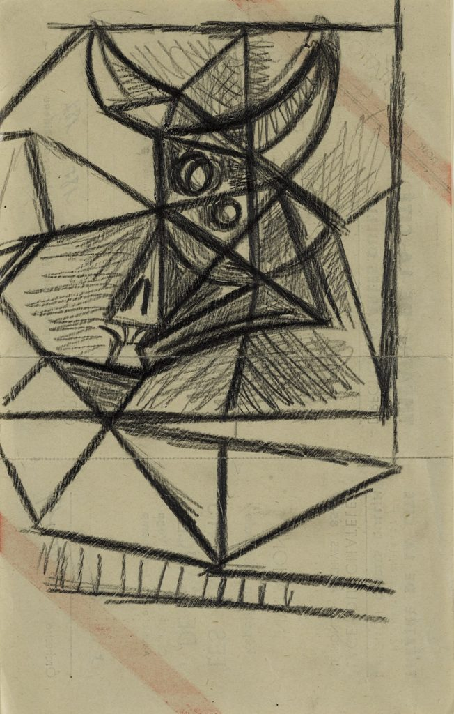 Taureau Graphite on paper 8¼ by 5¼ in.; 20.9 by 13.3 cm Executed in 1942. Estimate: $40/60,000