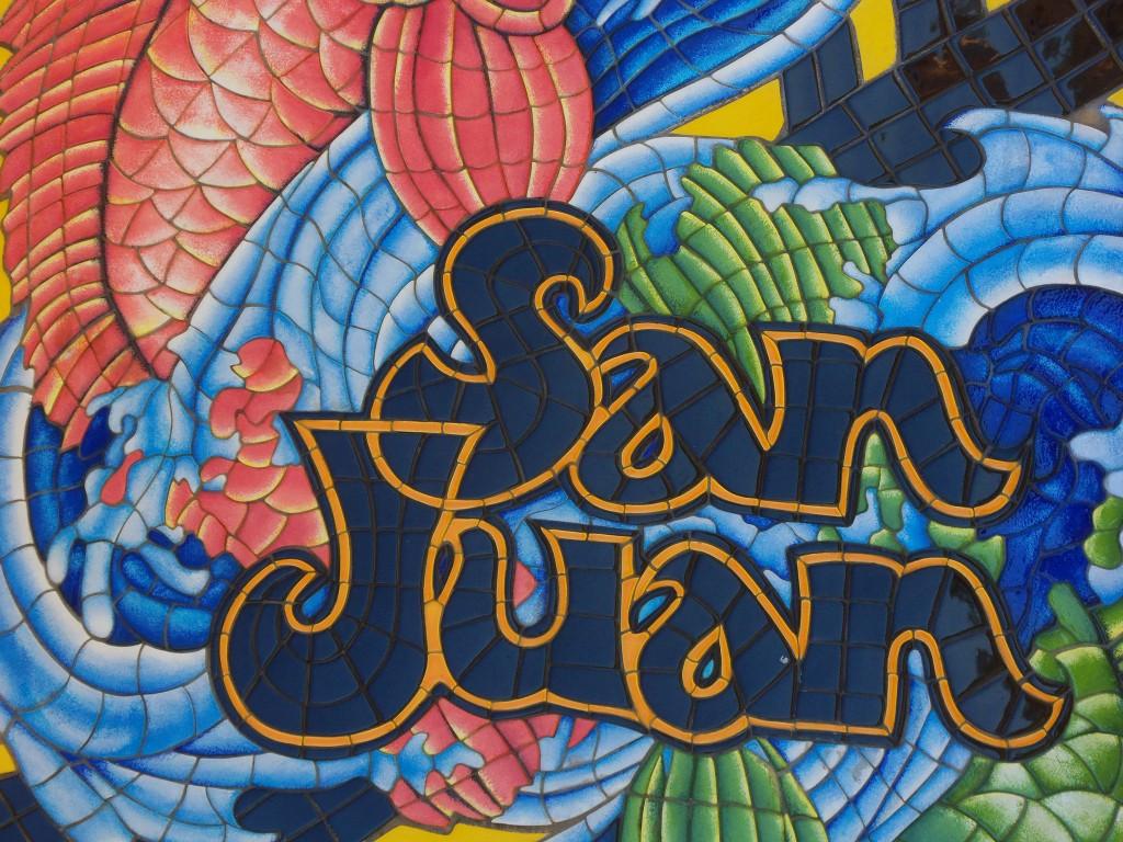 Mosaic of the name San Juan   © Daniel Oines/ Flickr
