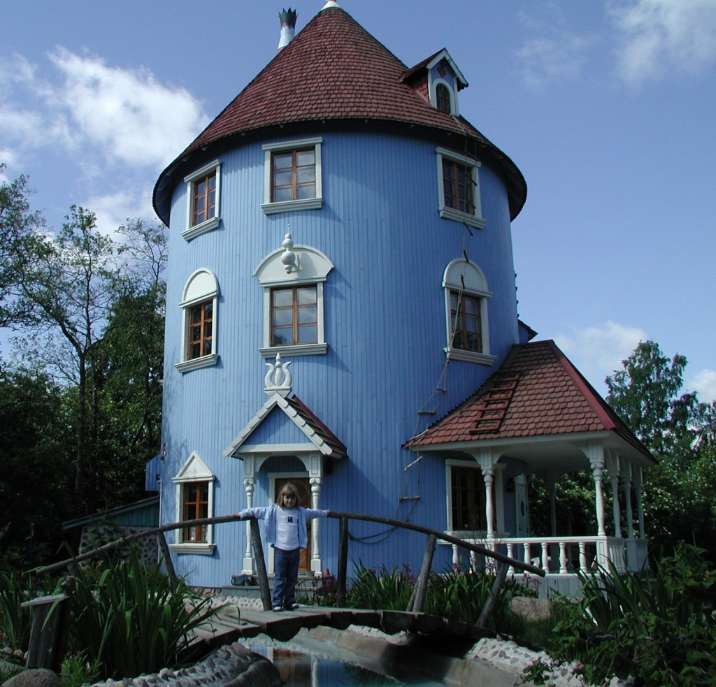 The Moomin's house at Moomin World/ Wikicommons