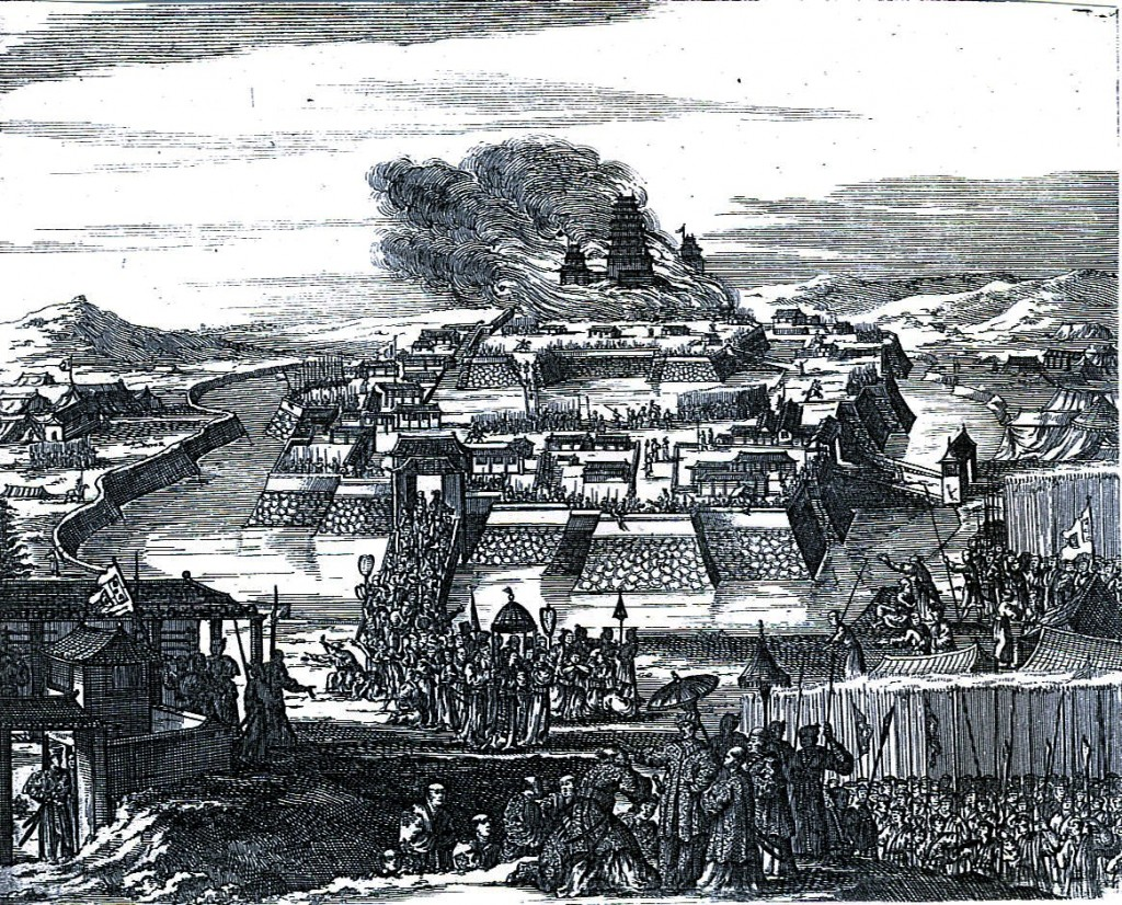 Early representation of the destruction of Osaka Castle