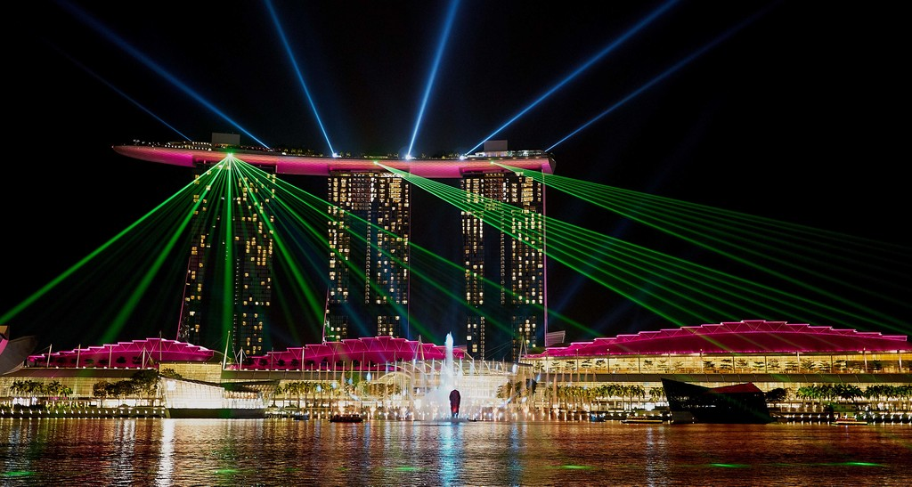 SINGAPORE - The laser show at the Marina Bay Sands