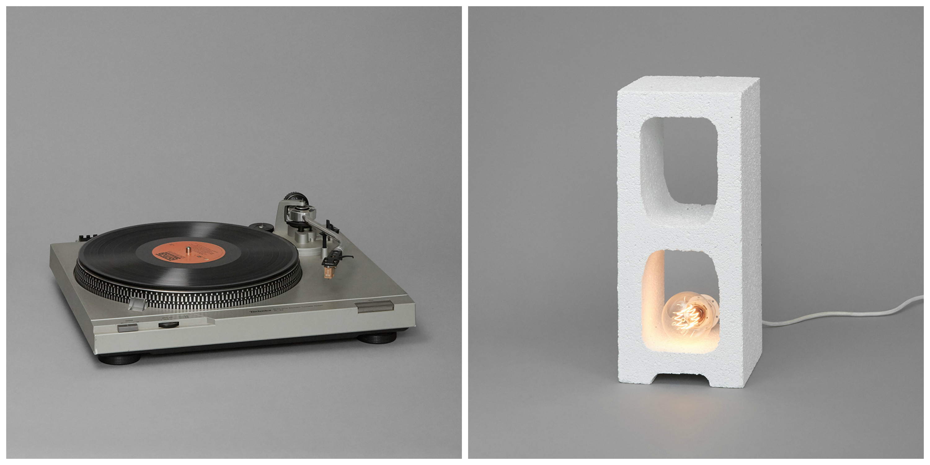 Record Player and Bedside Table © The Anonymous Couple