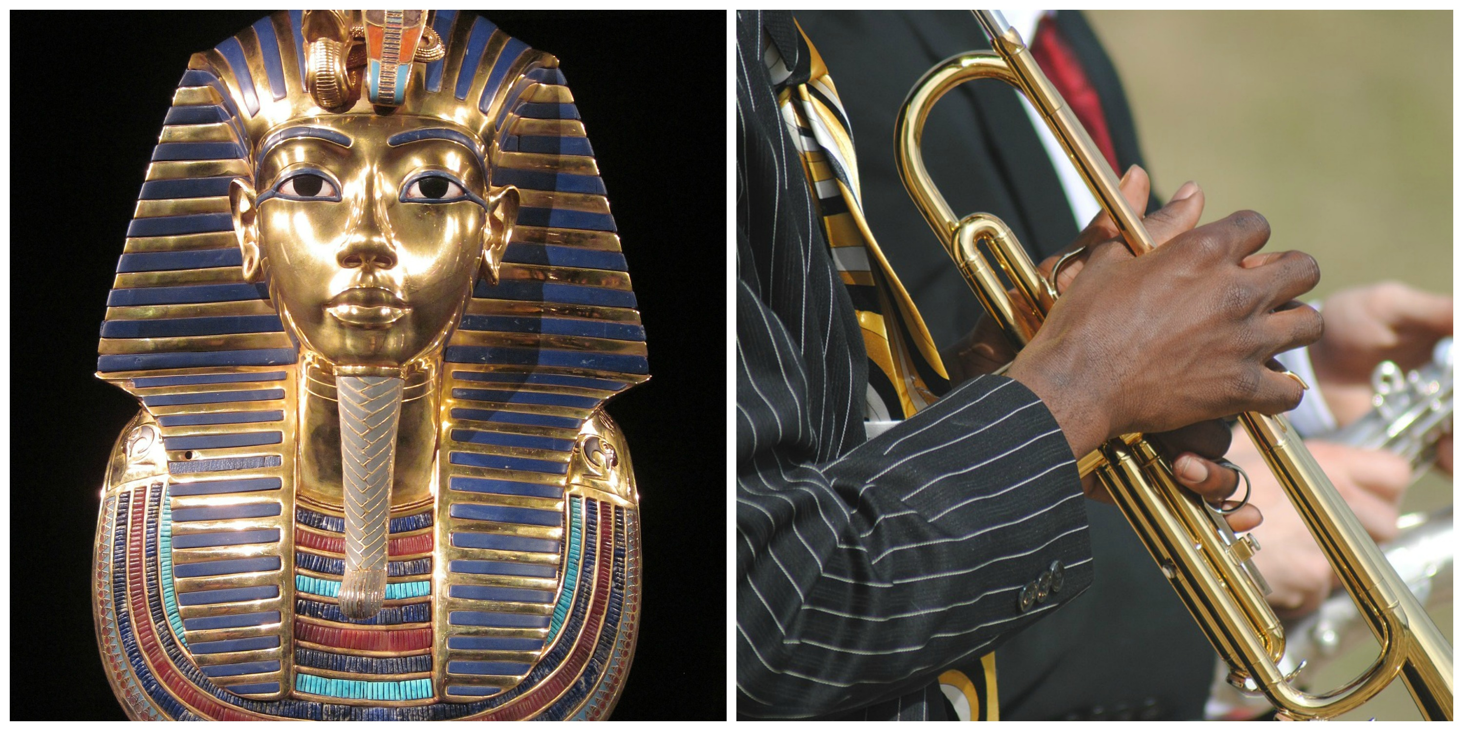 King Tut | © Sriom / Pixabay and Jazz Music | © Ahkeem Hopkins / Pixabay