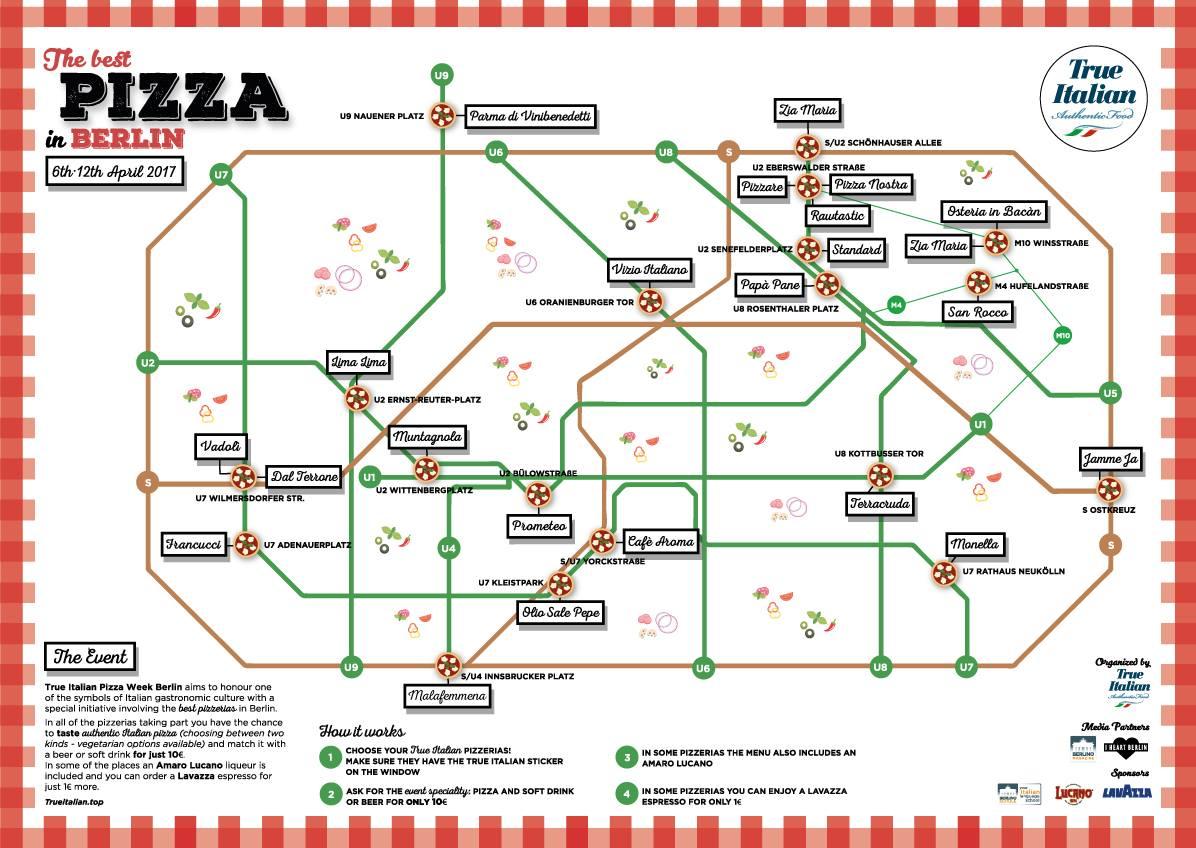 The First True Italian Pizza Week In Berlin - Berlin map 2017