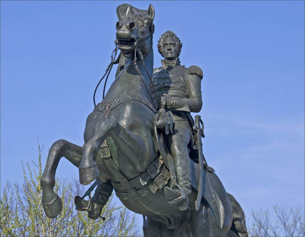 President Andrew Jackson Statue in Lafayette Square Ron Cogswell Flickr