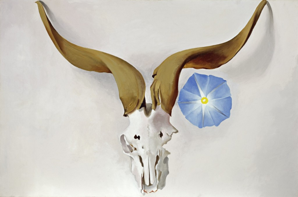 Ram's Head, Blue Morning Glory at GOMA © Georgia O'Keeffe