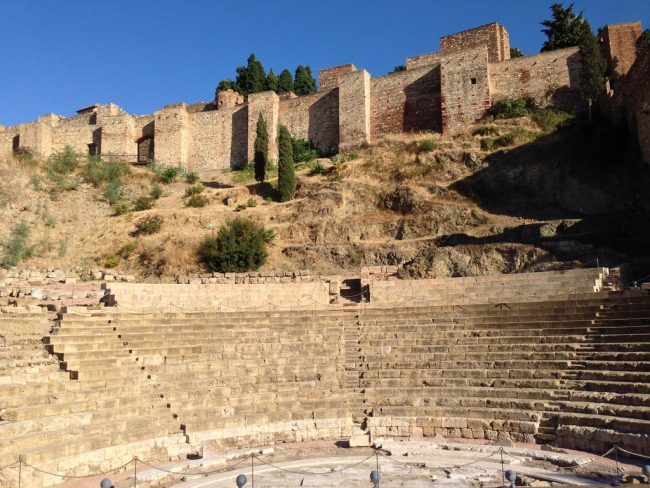 "<a href=""https://www.flickr.com/photos/andynash/"">Málaga's Roman theatre sits at the bootom of the Alcazaba fort 