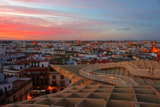 Sunset from Las Setas, Seville; Encarni Novillo