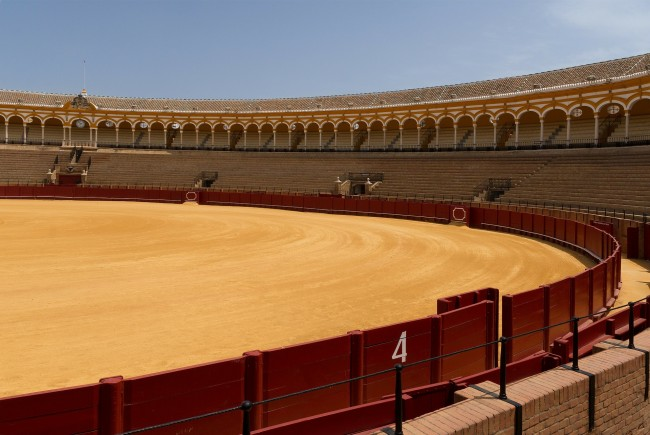Seville's beautiful bullring is one of the most prestigious in Spain; pixabay