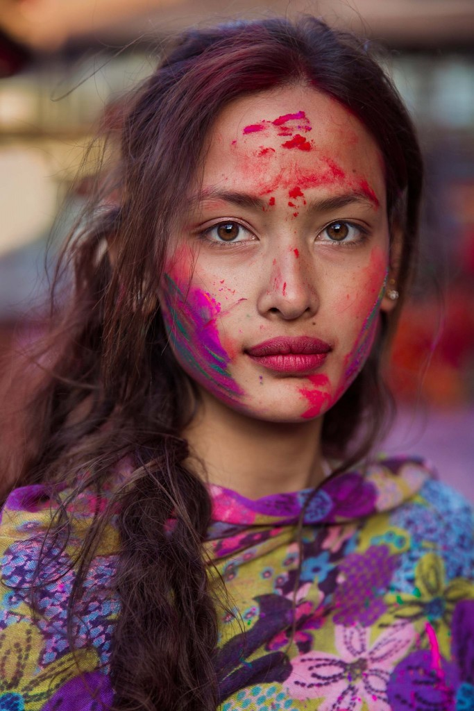 Sona during Holi, Katmandu | © Mihaela Noroc/The Atlas of Beauty/Courtesy of Ten Speed Press