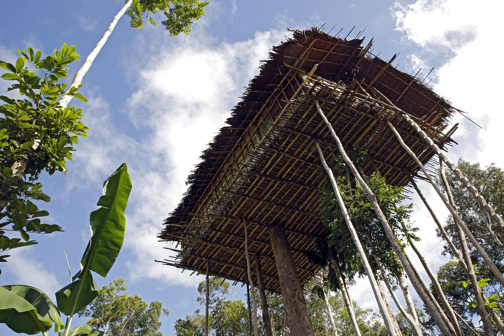 Treehouses of the Korowai Tribe | © Andaman / Flickr