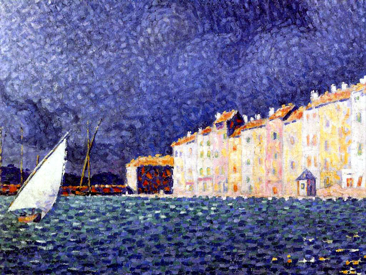 L'orage de Saint Tropez by Signac (The storm of St Tropez) is in the museum Annonciade | © WikiCommons