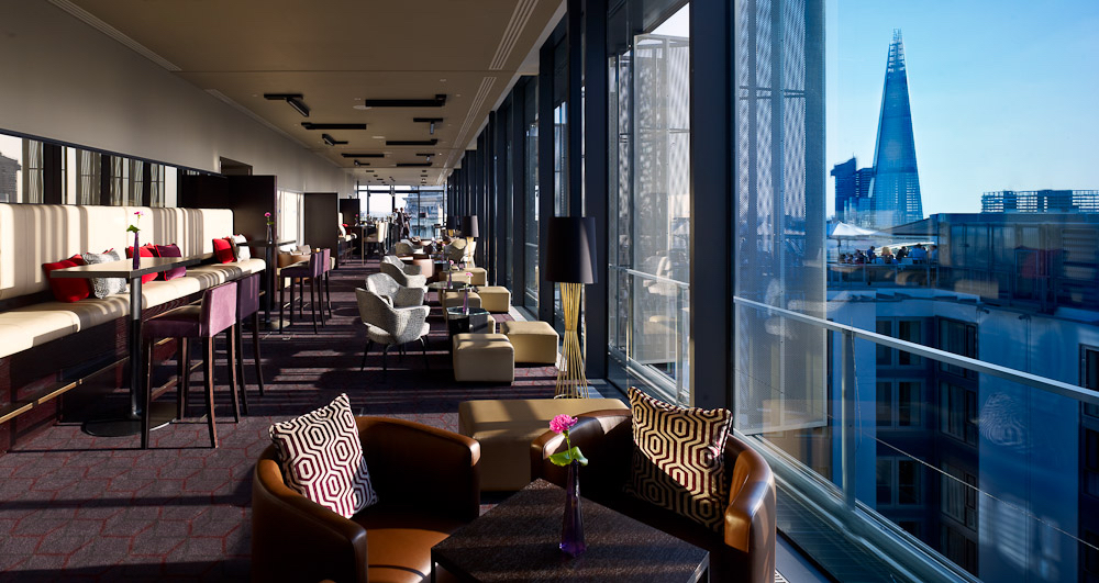 The inside of Skylounge