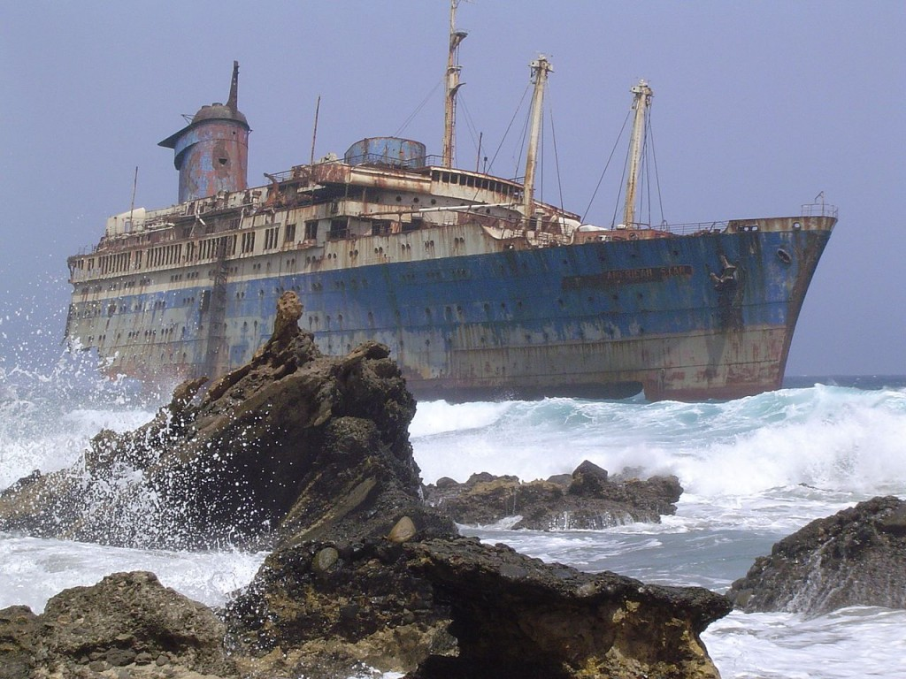 What is left of the SS America   © Wikipedia Germany / Wollex