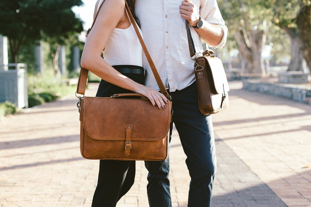 Leather messenger bag © Courtesy of Freedom of Movement