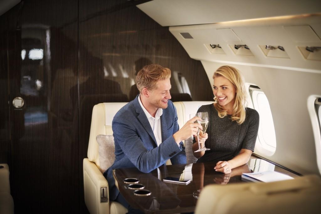 Couple Private Jet