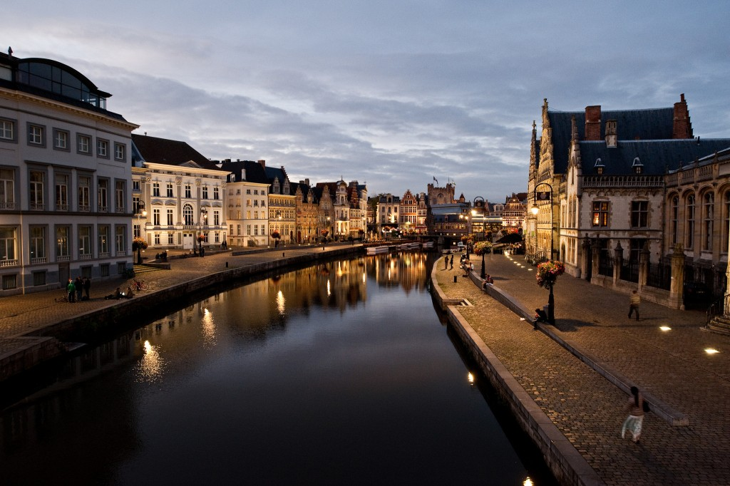 The Graslei, a core relaxation spot in the ancient city core | courtesy of Visit Gent