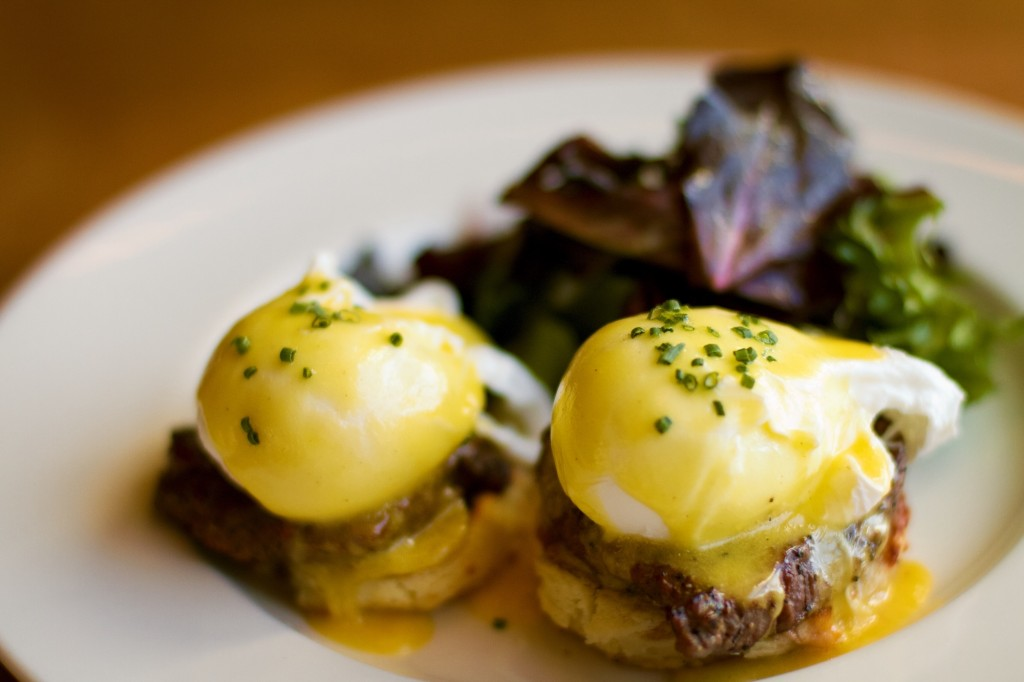 Steak and Biscuit Benedict, Courtesy of The Southern Steak and Oyster