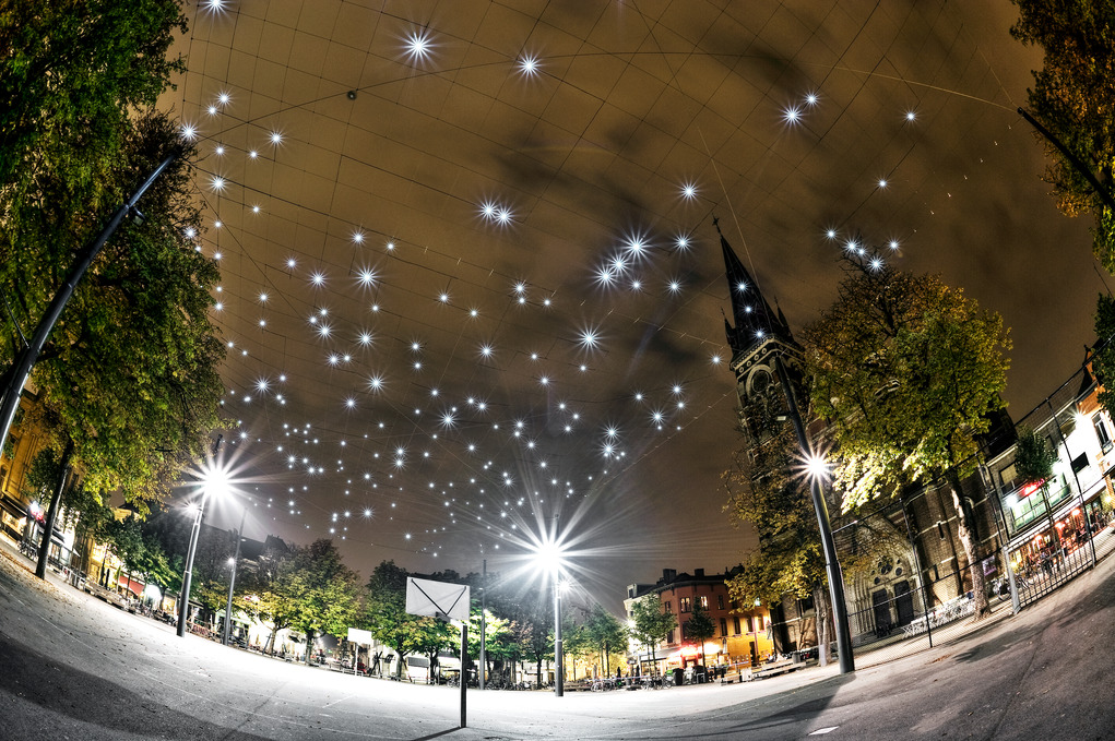 The starry night's sky of Antwerp's Dageraadplaats | © Dave van Laere / courtesy of Visit Antwerp