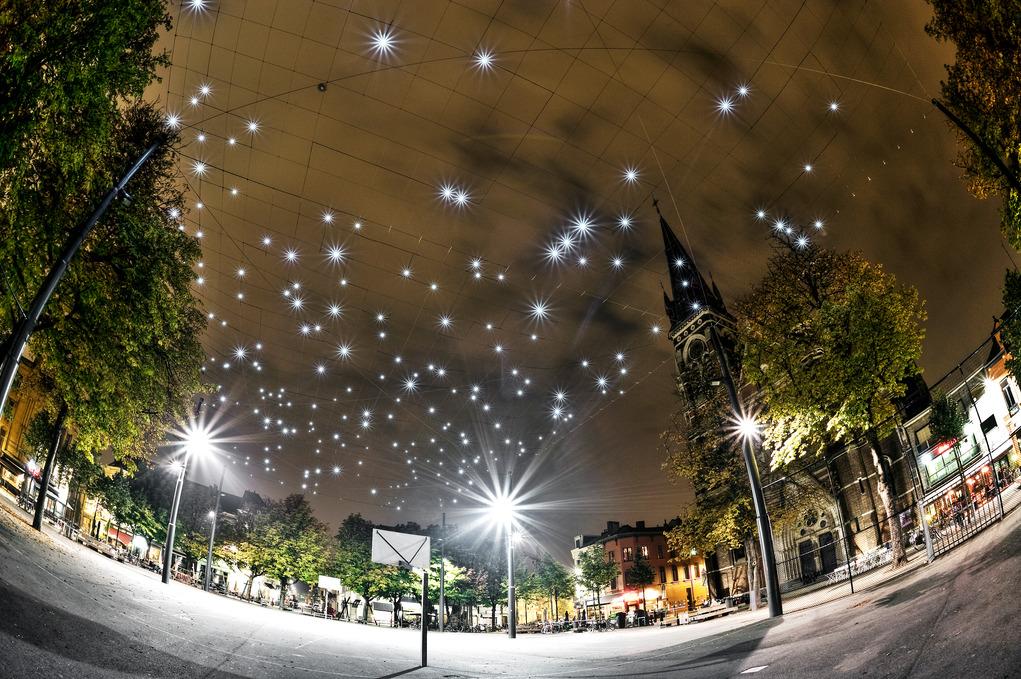 The starry night's sky of Antwerp's Dageraadplaats | © Dave van Laere / courtesy of Visit Antwerp