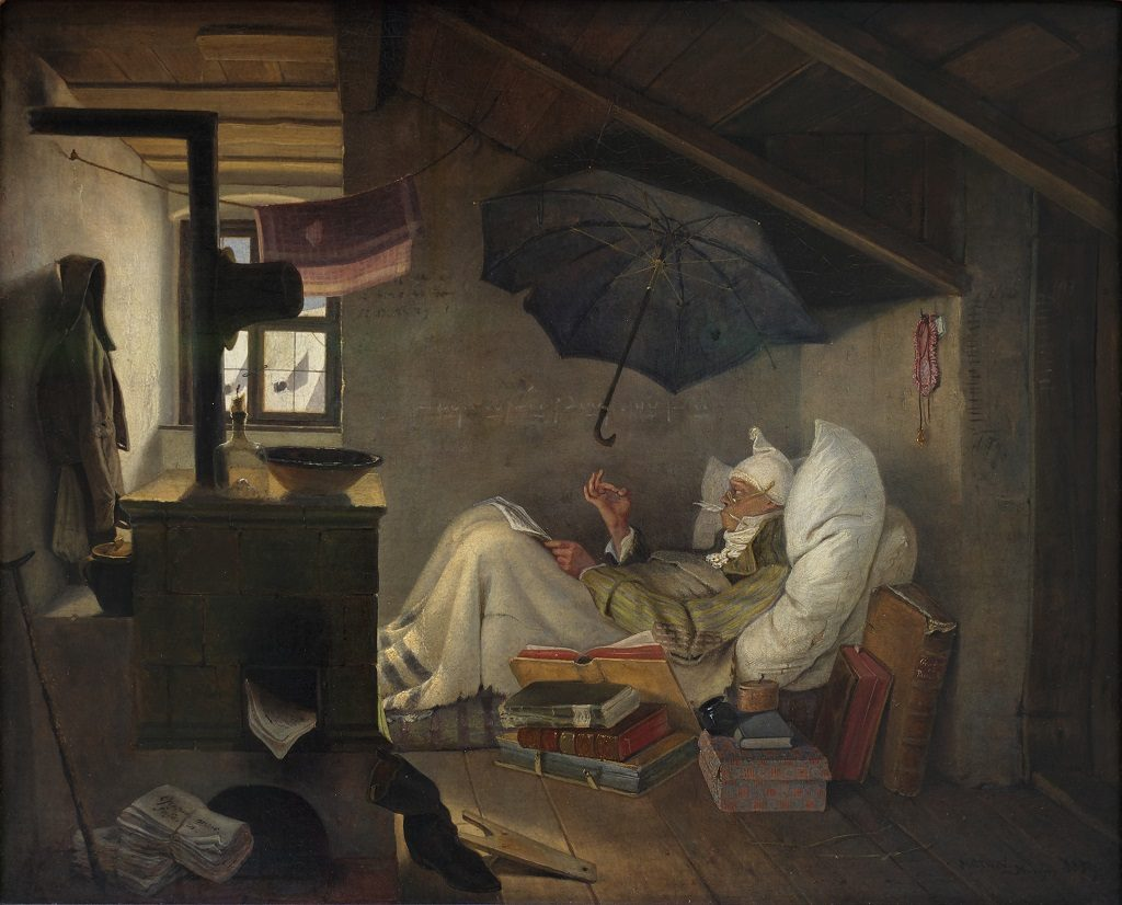 The Poor Poet by Carl Spitzweg / Wikimedia Commons