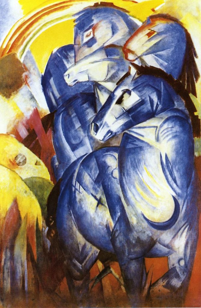 The Tower of Blue Horses by Franz Marc / Wikimedia Commons