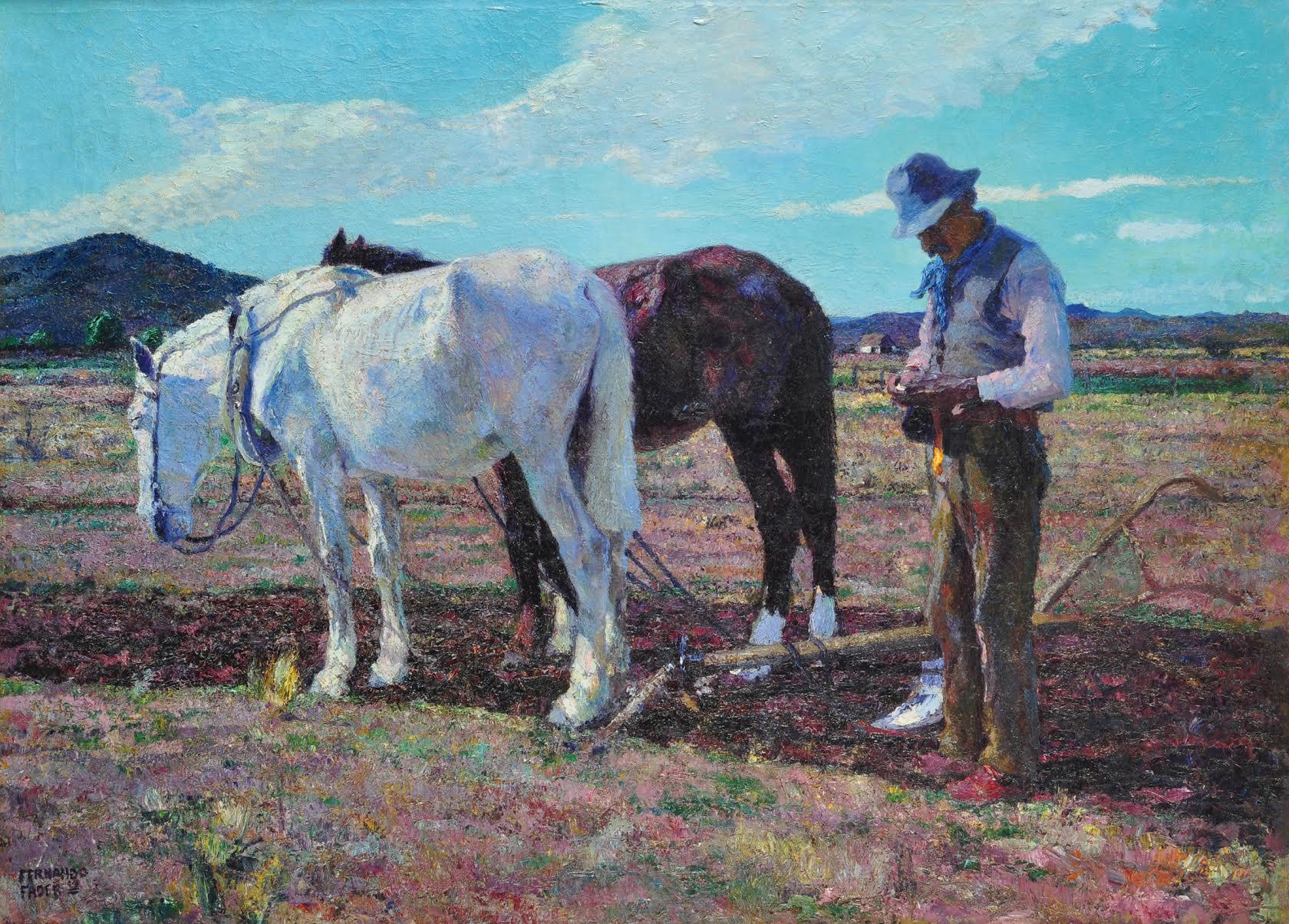 "Fernando Fader's 1919 oil painting ""Tierra Mansa"" is part of the Zurbarán collection | Courtesy of Zurbarán"