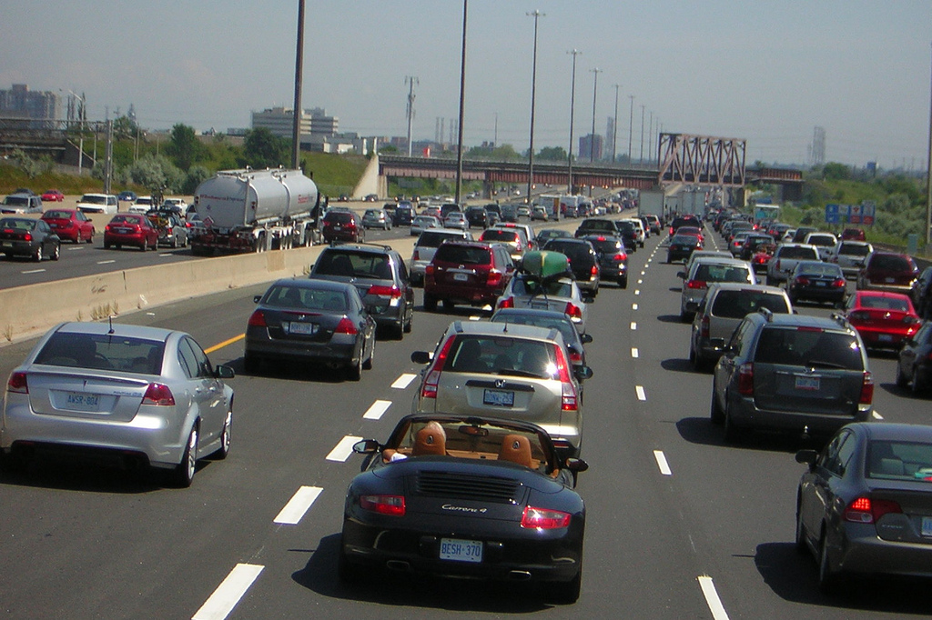 Traffic around the Greater Toronto Area | ©Robert Jack/ Flickr