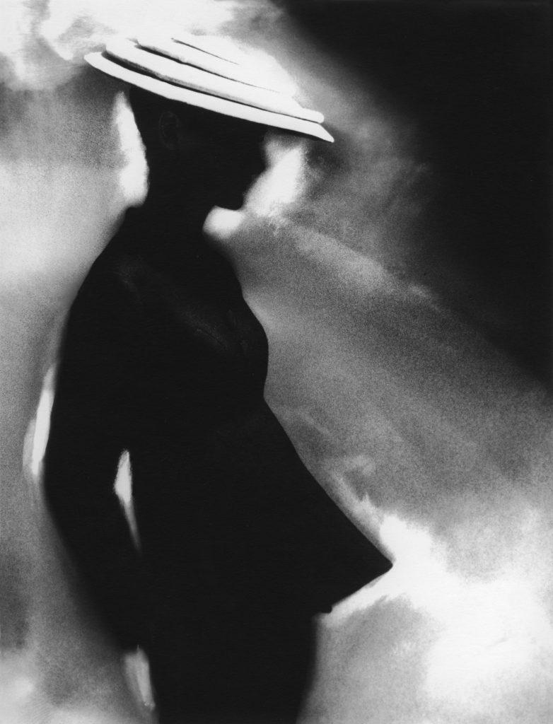 Lillian Bassman, Tunic Suit, Sunny Harnett (suit by Charles James), 1955   © Lillian Bassman/Courtesy of CAMERA WORK (Berlin) and Lillian Bassman Estate