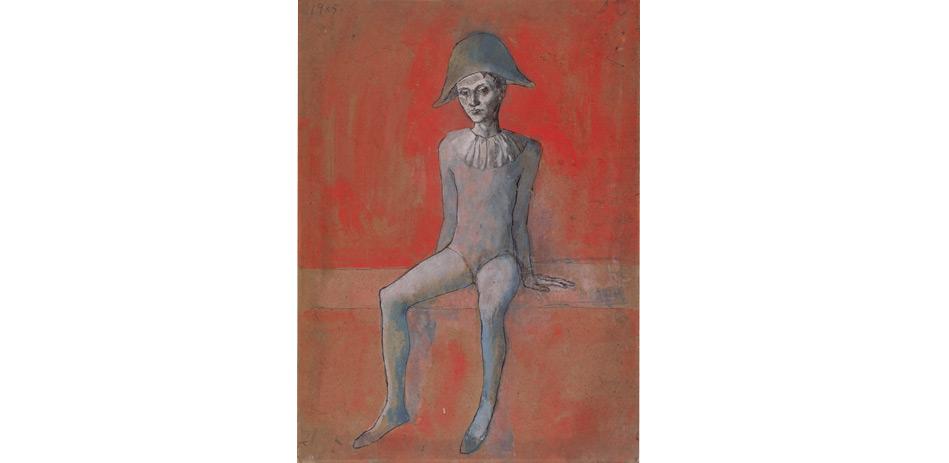 Pablo Picasso: Arlequin assis (Sitzender Harlekin), 1905 | © Succession Picasso / VG Bild-Kunst, Bonn 2015 / Staatliche Museen zu Berlin, Nationalgalerie / Jens Ziehe