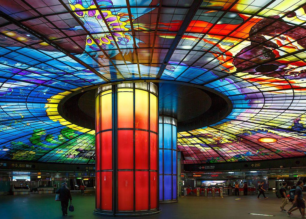 The Dome of Light at Formosa Boulevard Station   © CEphoto, Uwe Aranas / Wikimedia