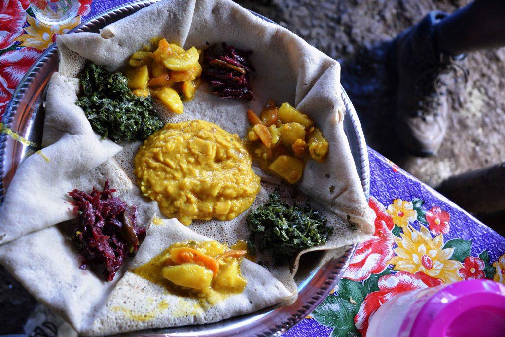 Ethiopian cuisine | © Rod Waddington/Flickr