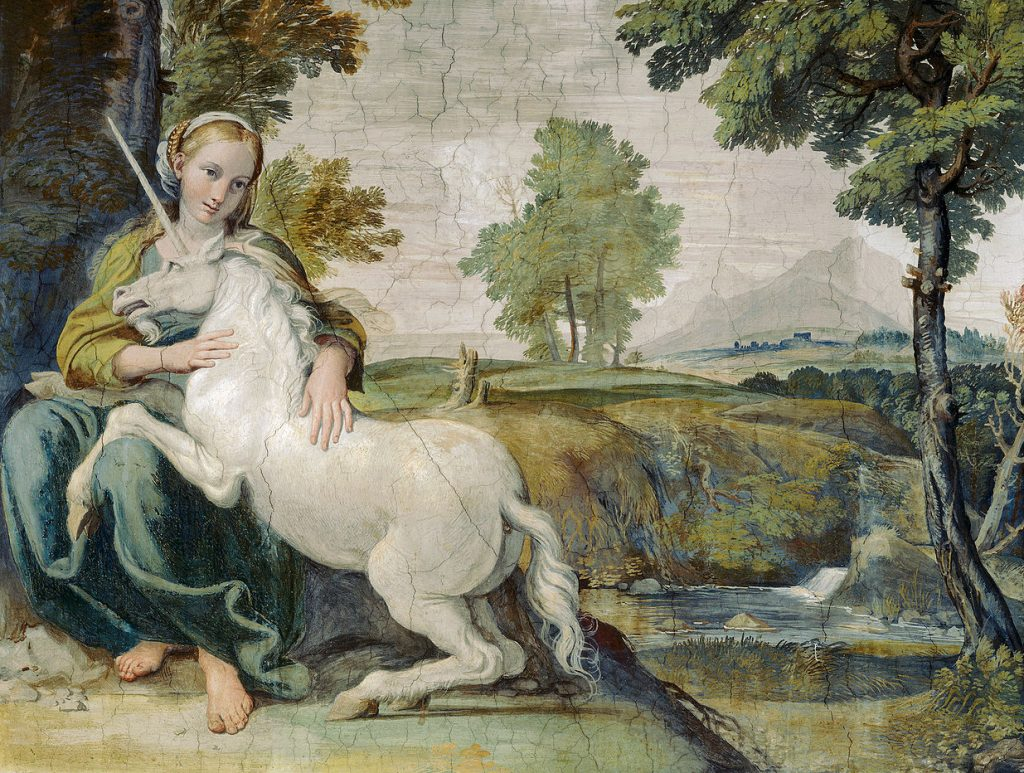 Virgin and Unicorn By Annibale Carracci | © WikiCommons