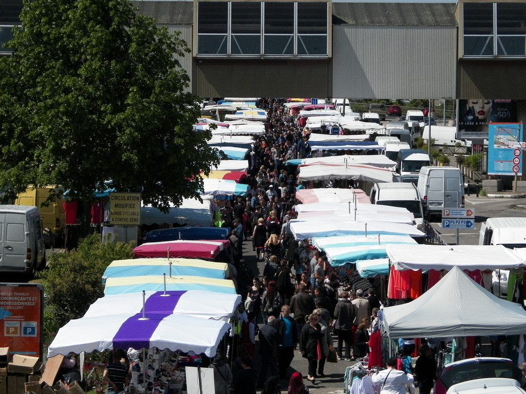 """The Grande Braderie is an annual event where shops sell off their clothes at very reduced prices and people throng onto the streets for bargains 