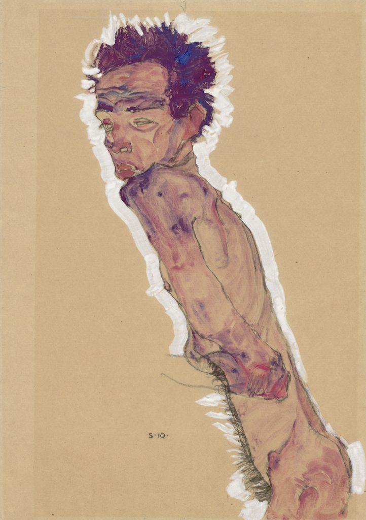 Egon Schiele Nude self-portrait, 1910 Albertina, Vienna